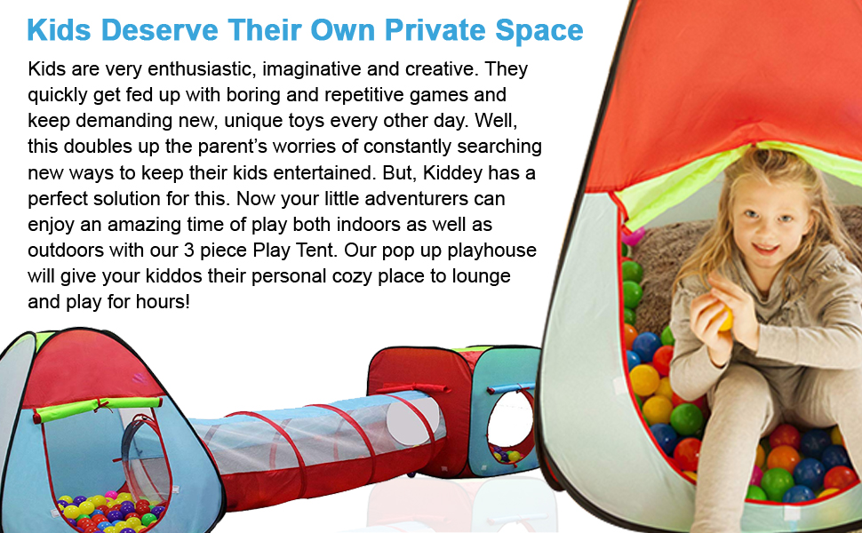 Take playtime to the next level with play tents.