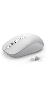 Gray Bluetooth wireless mouse