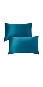 Navy Silk Pillowcases