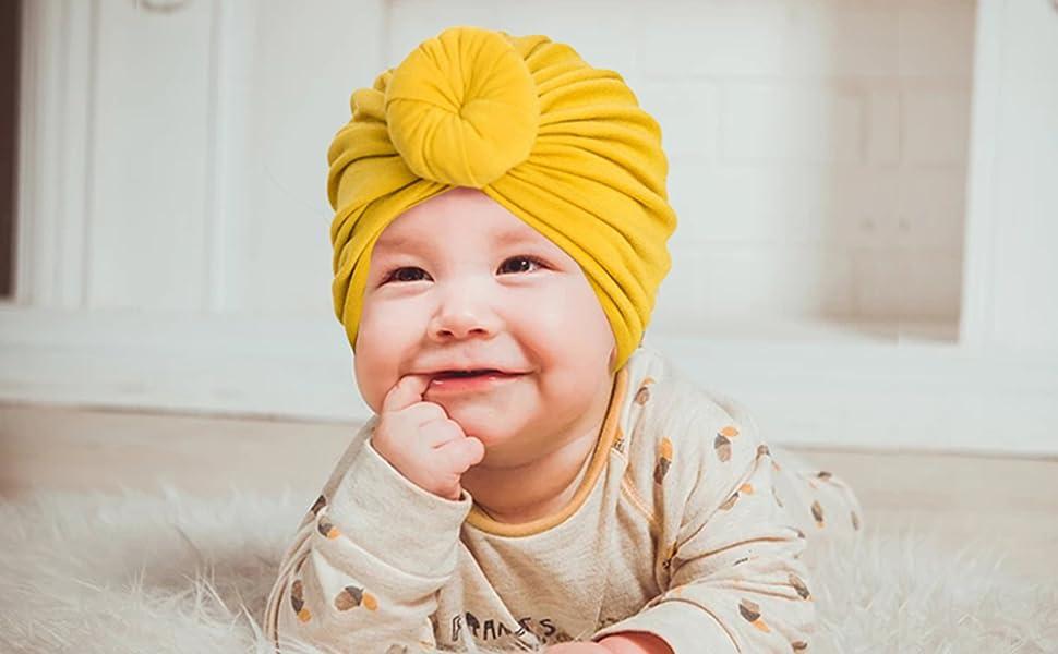 Ribbed Brick Pontelle topknot turban baby hat baby headwrap baby turban