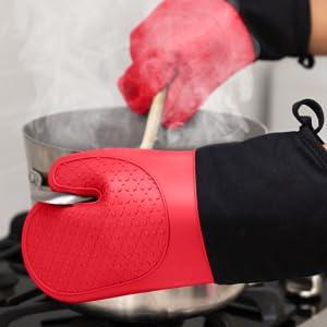 pot holders silicone, long oven mitts, pot holder set, black pot holders, hot pot holder