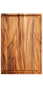 Villa Acacia 24 inch wood cutting board with juice groove