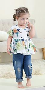 Toddler girl summer clothes set