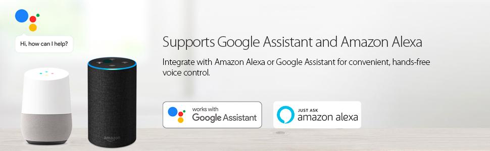 Supports google assistant, amazon alexa, ifttt