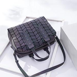 leaves leather crossbody handtote bag