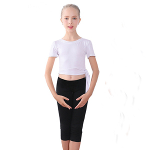 White Color dance capri legging