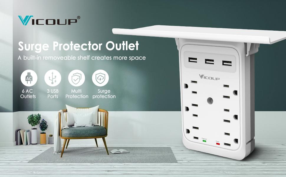 Outlet Shelf-Multi Plug Outlet Extender