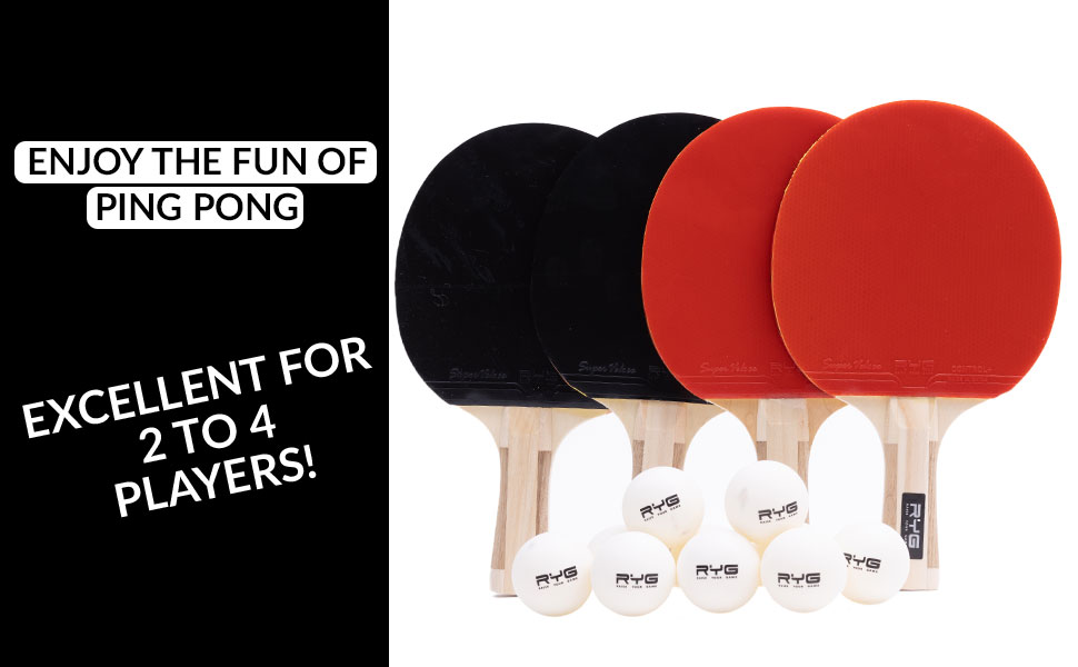 ping pong balls paddle table tennis set paddles rubber star wood case racket outdoor bundle games