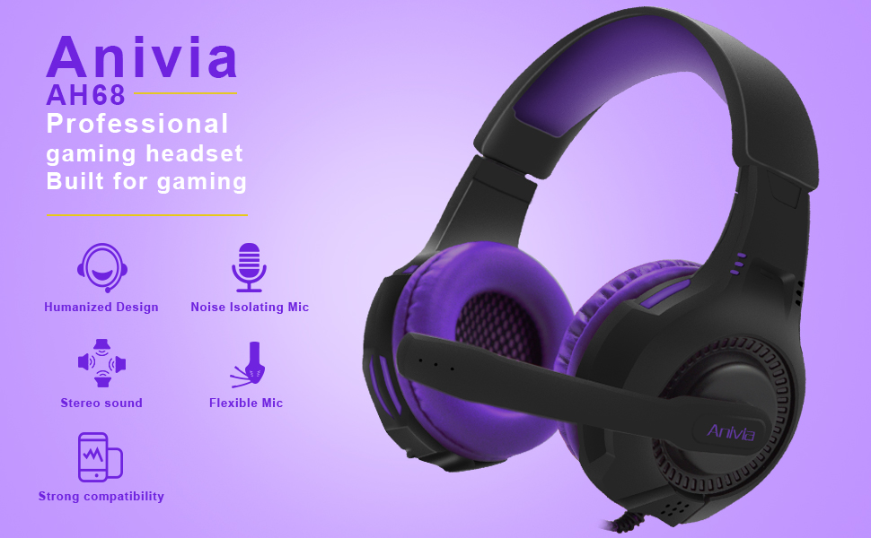 GAMING HEADSET FOR PHONES TABLET MP3