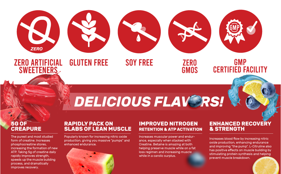 delicious flavors lactose free gluten free soy free zero gmos lab tested gmp certified facility