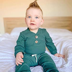 baby boy ribbed outfit