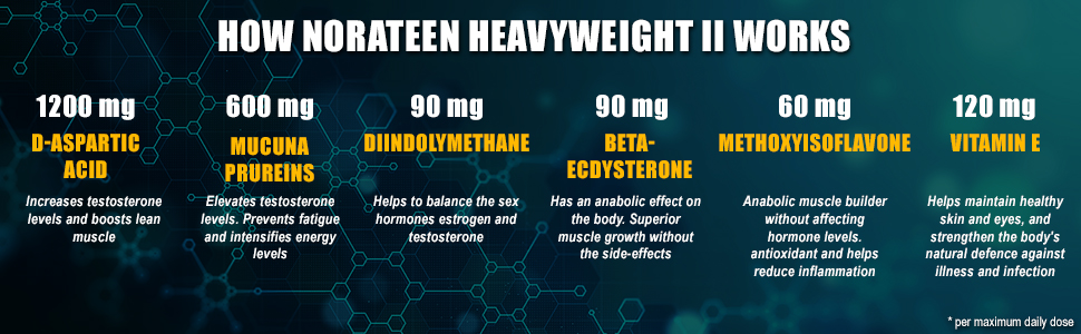 Norateen Heavyweight II - Nutritional Information