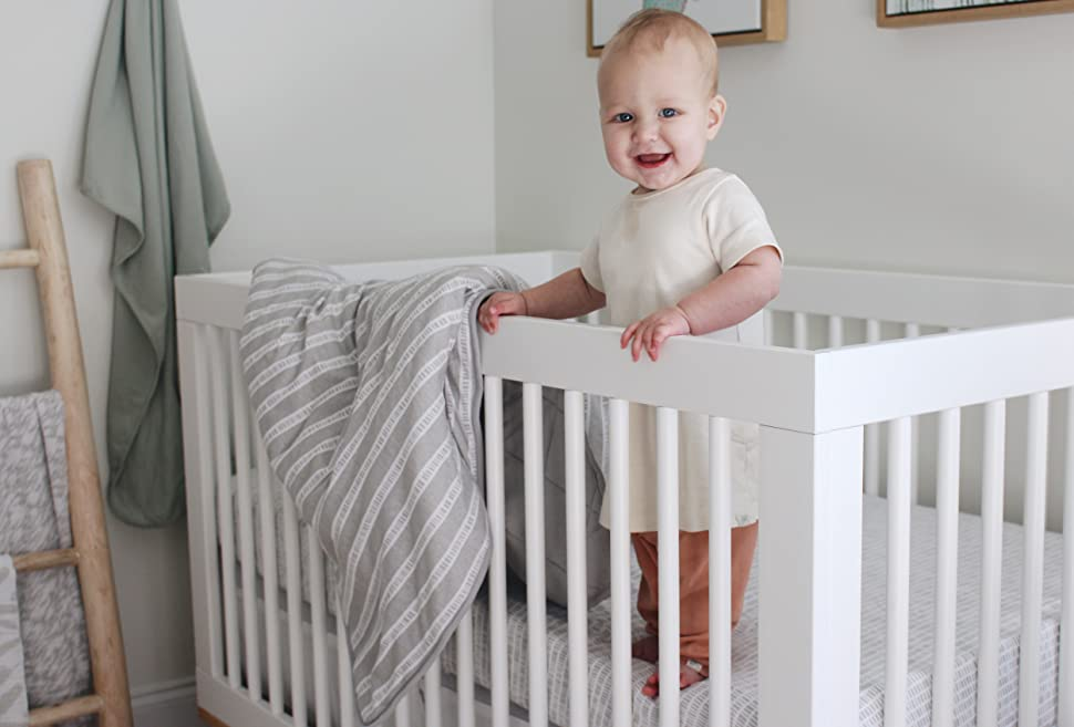 neutral crib set