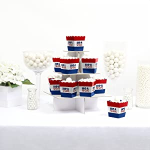 Party Mini Favor Boxes Personalized Candy Boxes Stars /& Stripes Memorial Day Treat Candy Boxes 12 pc Patriotic Party Decor