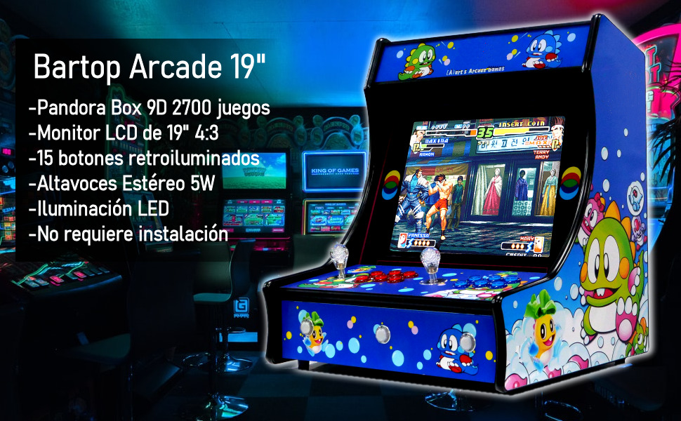 bartop, arcade, maquina recreativa, pandora box, neogeo, mame, emulador, rasberry, maquina recre
