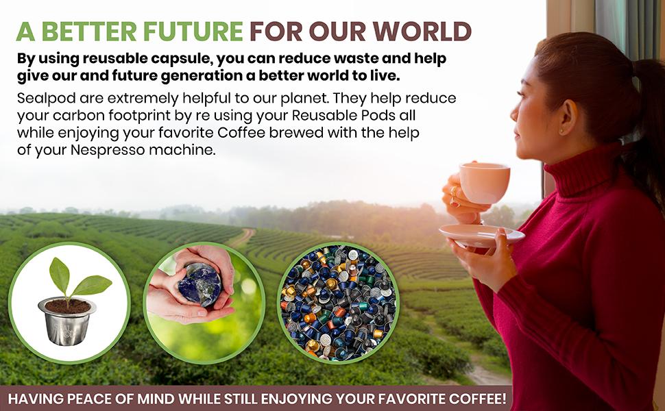 ecofriendly Nespresso refillable pods