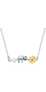 Sunflower Sloth Necklace