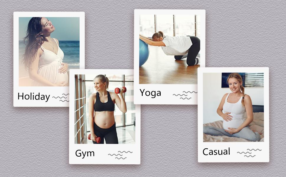 maternity pregnancy gym workout yoga shorts