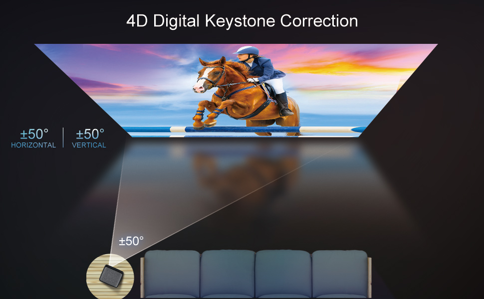 4D keystone correction