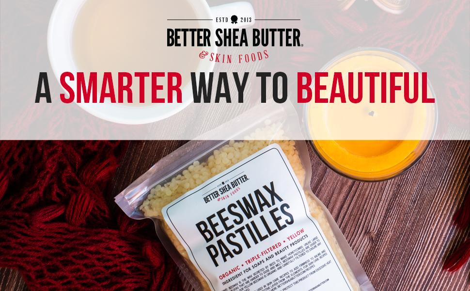 beeswax pastilles - better shea butter
