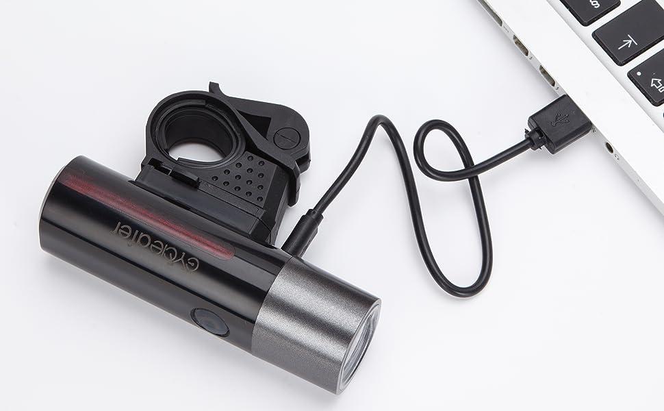 Cycleafer® Luz trasera de bicicleta recargable USB, luz trasera de ...