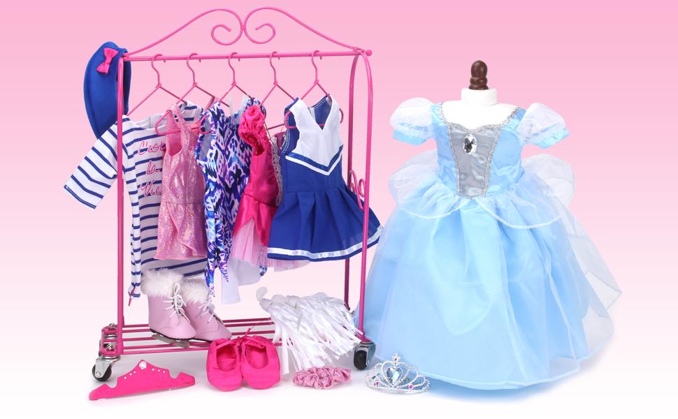 doll clothes, doll wardrobe