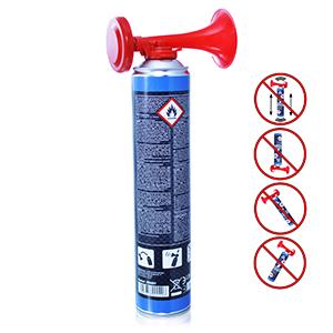 AAB Cooling Signal Gas Horn 750ml - Conjunto de 2 - Fanfarria de Gas Muy Fuerte, Butano, Bocina Aire Comprimido, Trompeta Bocina, Trompetas de Futbol