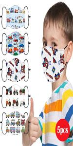 5Pcs Face Mask for Kids