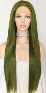 dark green wig