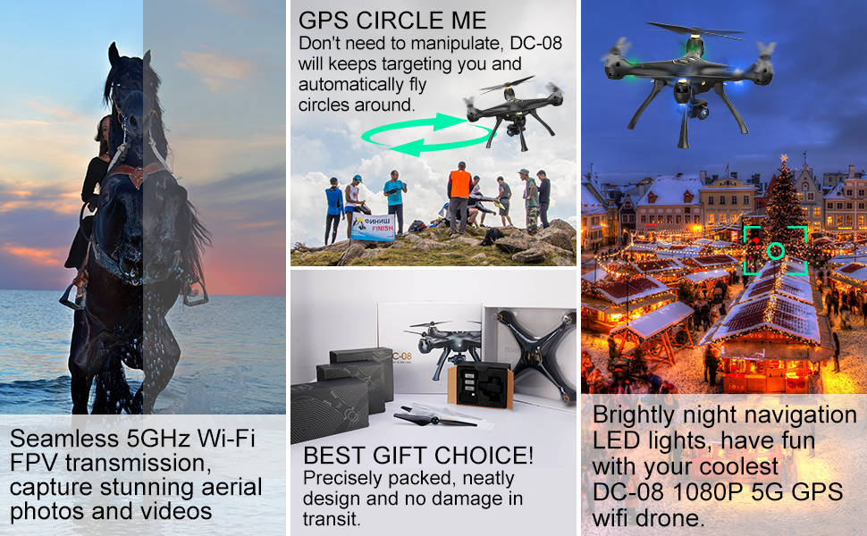 GPS drone, 1080P, 5G wifi drone, GPS auto return home, altitude hold