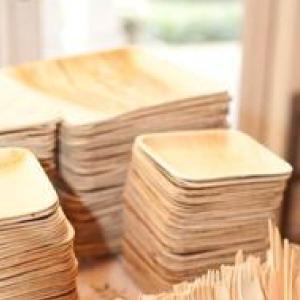 vajilla biodegradable 25 platos de hoja de palma cuadrados vajilla rustica y elegante juego de cubiertos de madera abedul de 25 tenedores y 25 cuchillos GoBeTree Vajilla desechable de 75 piezas