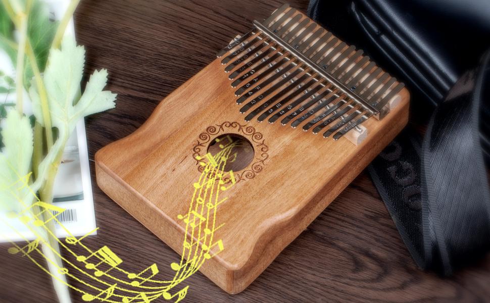 17 Keys Thumb Piano Portable Musical Instruments