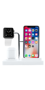 3 in 1 Apple Charging Station White