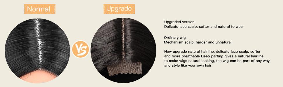 long straight wig natural balck color
