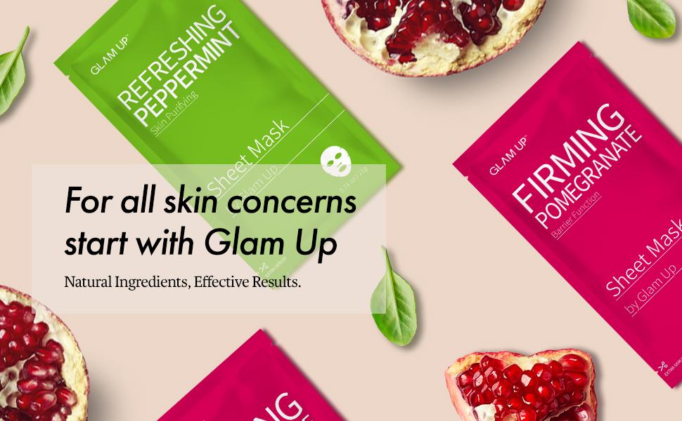 glam up sheet mask