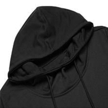 Long Sleeve/ Irregular Hem/ Split Front/ Oversize/ Drawstring Hoodie Pullover/ Hooded Poncho