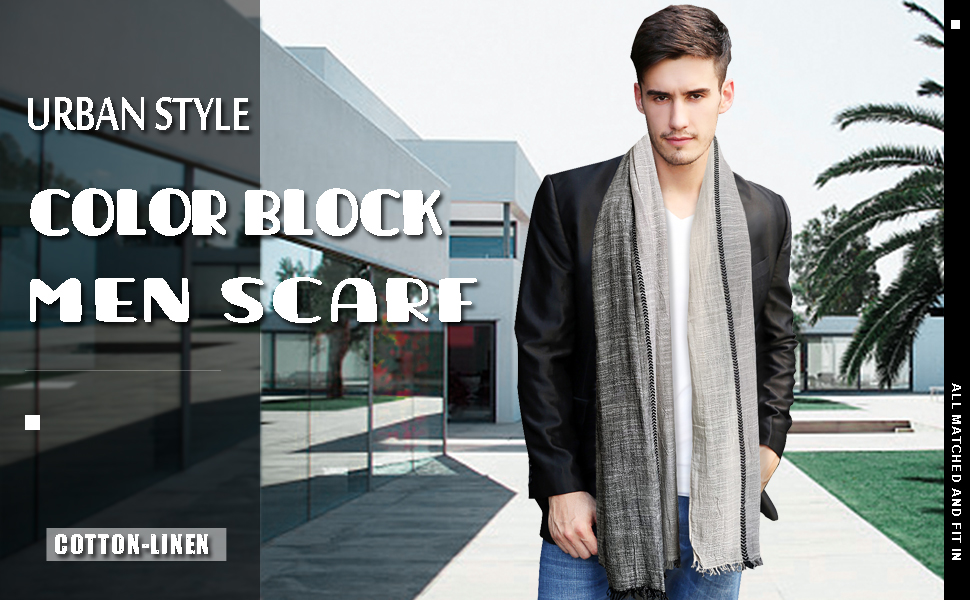 "Brand New! Gray Cotton 18/"" x 58/"" Stylish Soft Scarf.."