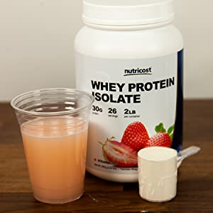 Nutricost Strawberry Whey Protein Isolate