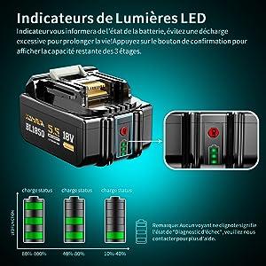Batterie pour Makita 18V