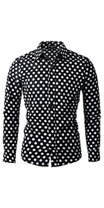 Polka Dots Button Down Shirt