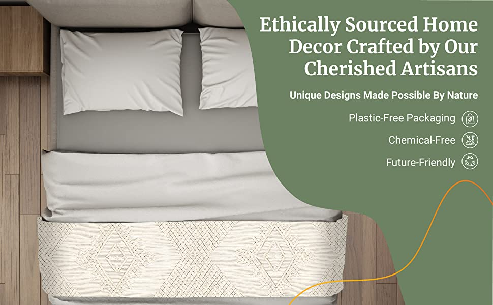Ethically Sourced Home Decor Crafted By Our Cherished Artisans. Made with Pure amp; Untreated Materials