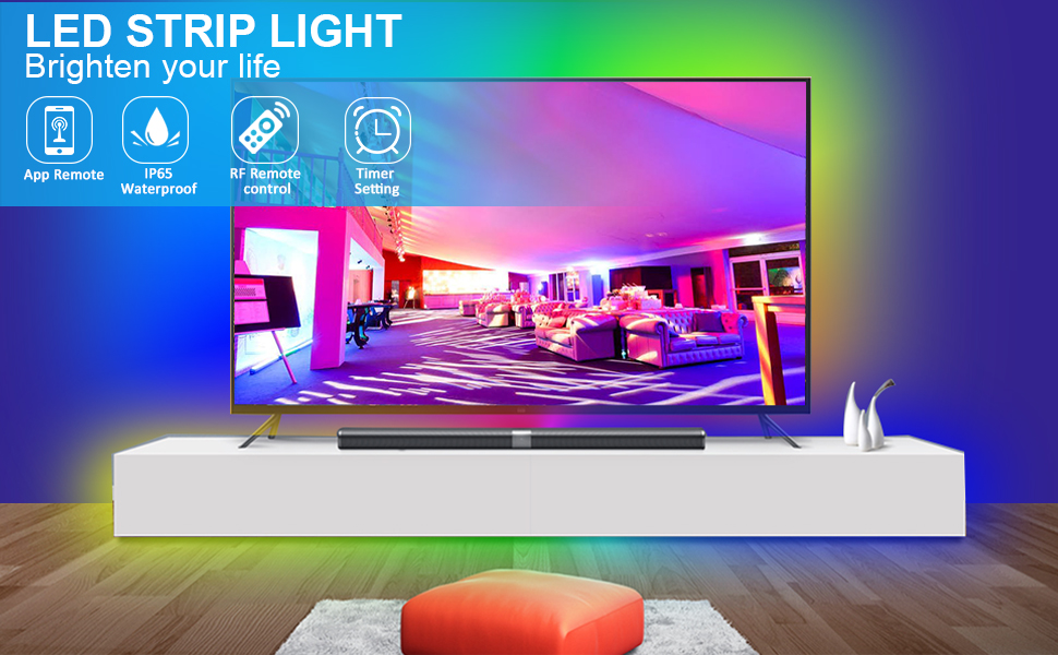 strip lights for bedroom led strip light 16.4ft waterproof led strips with remote