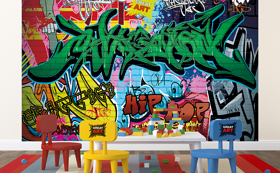GREAT ART Mural De Pared – Graffiti – Letras De Colores Pop Art ...