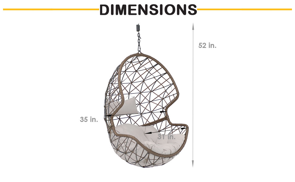 dimensions of egg chair
