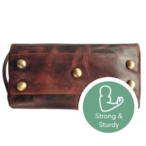 handmade genuine Vintage Leather Travel Toiletry Bag Shaving cosmetics soft Dopp Kit men women gifts