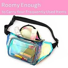 Transparent iridescent Fanny Pack