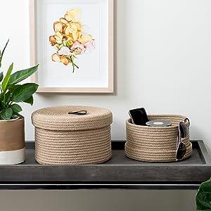 entryway baskets console table key wallet tray trinkets