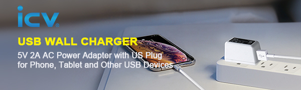 ICV USB Wall Charger 5V 2A