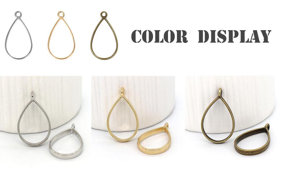 jewelry blanks Gray GLITTER diamond Blanks Cutout 1 Hole charm necklace diamond earring bead jewelry making 28mm square jewelry