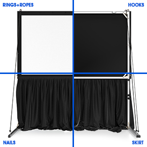 Projector Screen with Stand  included full outdoor kit